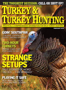 February 2009 issue cover of Turkey and Turkey Hunting