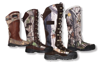 Snake boots for turkey hunting